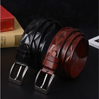 Luxury Men's Business Waistband PU Leather Smooth Buckle Belt Waist Strap Belts