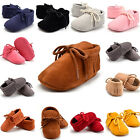 US Stock Newborn Infant Baby Boy Girl Soft Sole Boots Tassel Moccasin Crib Shoes