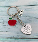 Thank you Gift for Teacher, Teaching assistant, Nursery teacher - Apple Keyring