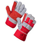 10 x Double Palm Safety Canadian Leather Rigger Gloves For Heavy Duty Tough Work