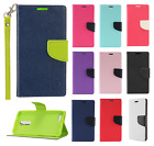 For ZTE Blade X Max Premium Leather 2 Tone Wallet Case Pouch Flip Phone Cover