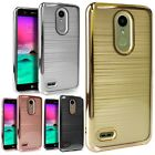 For ZTE Blade X Max SHINE Hybrid Hard Case Rubber Phone Cover +Screen Protector