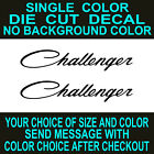 (2x) Challenger Dodge Mopar Die Cut Vinyl Decal Car Windsheild Tool Box Sticker $23.5 USD on eBay