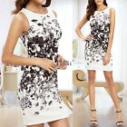 New Fashion Women Casual O-Neck Sleeveless Print Pullover Dress TXCL02