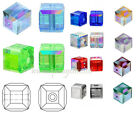 Authentic #5601 Swarovski Crystal 4mm Cube Beads pick AB colors 2pcs SALE