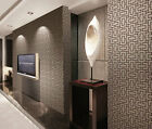 3D Geometric Retro Vintage Embossed Textured Plaid Silver Grey Wallpaper 10M