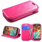 For Samsung Galaxy Wallet Card Holder Leather Fabric Case stand card slot