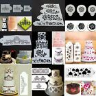 Flower Emboss Fondant Cake Stencil Mould Border Side Lace Icing Sugarcraft Decor