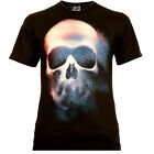 Colored Style Skull - Rock Eagle T-Shirt Glow in the Dark Totenschädel Death