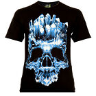 Crystal Skull - Rock Eagle T-Shirt Glow in the Dark Totenschädel Death