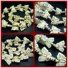 """13x16mm、20x26MM White Turquoise Gems Butterfly Spacer Beads 16"""" / 27pcs"""