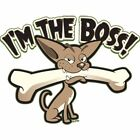 T-shirt femme manches courtes - Humour - Chien I m the boss - 9534