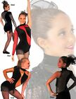 NWT PUMPERS Woman's T-Neck 1-Arm Leotard Red or Silver Sequins Adult Small