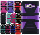 For Samsung Galaxy On5 G550 Hard Gel Rubber KICKSTAND Case Cover +Screen Guard