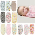 100% Cotton Soft Baby Infant Swaddle Wrap Blanket Sleeping Bag For 0-12 Months