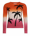 Superdry Mujer Jersey de cuello redondo Palm Dip Dye Rosa Sunset