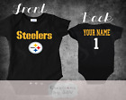 Pittsburgh Steelers Homemade baby bodysuit.