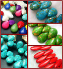 10X14mm,14X18mm,10X25mm,17x25MM Howlite Turquoise Gems Melon Seeds Spacer Beads