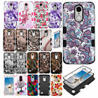 For LG Rebel 2 L57BL Rubber IMPACT TUFF HYBRID Hard Case Skin Phone Cover