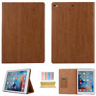 Wood Pattern Leather Card Wallet Stand Case Cover For Apple iPad mini/Air 2/Pro