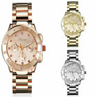 3Colors Womens Girl Round Plated Quartz Crystal Multi Dial Analog Wristwatch