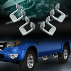 4 X SILVER TEXTURE COATED DIE-CAST ALUMINUM TRUCK SUV PICKUP NERF SIDE STEP BAR