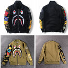 Men's Shark Head Coat Full Zip Jacket Hoodie Sweatshirt Casual Pattern Outwear