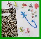 BOYS Party Favours  14 TOYS Loot Bag Reptile Sticky Lizards Bugs kids birthday