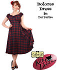 Collectif Vintage Style Dolores Doll Dress in Tai Tartan Rockabilly