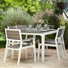 KETER Harmony 6 Seat Dining Set Outdoor Garden Patio Furniture BBQ Table Chairs