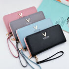 Women Lady PU Leather Wallet Purse Handbag Clutch Zip-Around Case Card HandBag