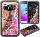 For Samsung Galaxy Amp 2 Liquid Glitter Quicksand Hard Case Phone Cover