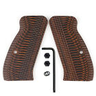 Slim G10 Gun Grips for CZ 75 85 Compact Free Screws OPS Texture Coolhand H6C-J1Pistol - 73944