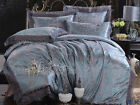 Soft Lace Quilt Duvet Cover Set Queen/King Size Bed Linen Doona Covers New Satin