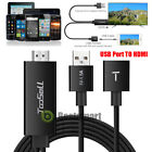 Lightning 8 Pin to HDMI Cable HDTV TV Digital AV Adapter for iPhone 8 iPad Black