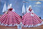 """THREAD crochet GOWN DRESS CLOTHES Patterns 11-1 /2"""" Barbie-size DOLL  You Choose"""