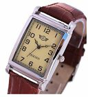 Eriksen Mens Rectangular Vintage Retro Analog Dress Watch MCS