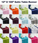 "25pc Wedding 12"" x 108"" Satin Table Runner Party banquet Decoration - FREE SHIP"