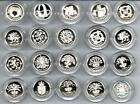 GB £1 SILVER PROOF ENCAPSULATED COINS 1983-2008 SELECT FROM LIST