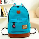 Boys Girls Korean Style Stylish Cool Shoulder Bag Canvas Backpack School TXCL01
