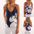 New Summer Womens Sleeveless Blouse Tank Tops Ladies Casual Floral Vest T Shirt