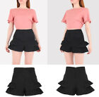 New Ladies Shorts Women Hot Pants Black Shorts Suede look Sizes 6-12 UK