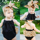 0-24 months baby clothes - USA Kids Baby Girls Romper Jumpsuit Bodysuit Clothes Outfits Headband Set 0-24M