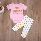 US Stock Newborn Baby Girls Romper T-shirt Tops  Pants Leggings Outfits Family