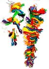 Parrot Plucker or Preener Toy Multi Coloured Boredom Feather Plucking Cage Toy