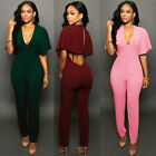USA Women Ladies Clubwear Hollow Playsuit Bodycon Party Jumpsuit&Romper Trousers