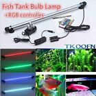 Aquarium Submersible Fish Tank Light LED SMD RGB White Blue Light Bar Lamp
