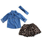 Mother Daughter Family Matching Dress Clothes 2Pcs Girls Womens Leopard Outfits