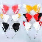 Katze Fox Ohren Fur Hair Stirnband Party NEKO Anime Cosplay Gemischte Farbe C