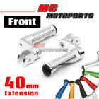 CNC MPRO 40mm Riser Front Foot Pegs For Ducati Monster 696 796 1098 959 Panigale